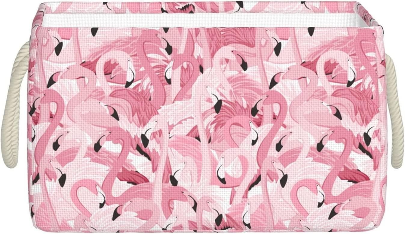 Pink Flamingo Brand Cheap Sale Venue Fabric Storage Basket Bin Foldable Ranking TOP7