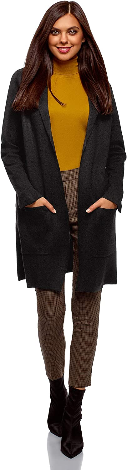 oodji Ultra Women's No Closure Cardigan with Patch Pockets