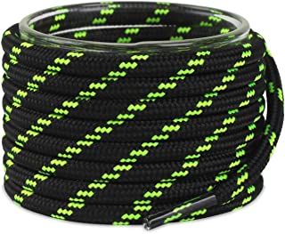 Thick Round Heavy Duty Boot Laces for Men & Women's Hiking Shoes with 4 Shoelace Tip Algets