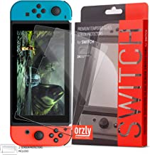 Orzly Glass Screen Protectors Compatible with Nintendo Switch - Premium Tempered Glass Screen Protector Twin Pack [2X Scre...