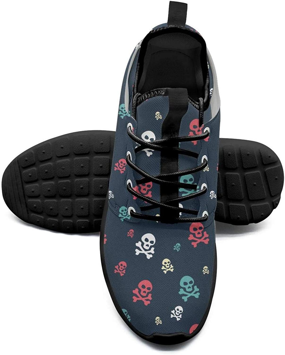 ERSER colord Skull Pattern Power Womens Running shoes