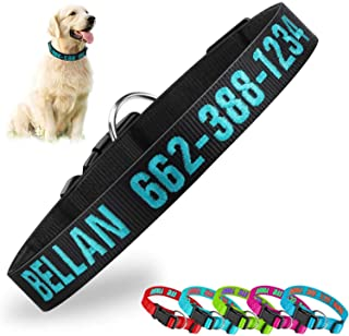 Personalized Dog CollarCustom Embroidered Pet Name Phone ID Nylon Collars for Dogs Side Release Buckle Neoprene Dog Colla...