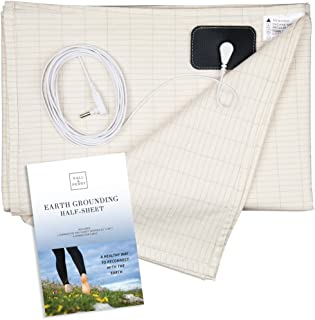 HALL & PERRY Earthing Half Sheet with Grounding Connection Cord | Pure Silver Fiber for Better Sleep, Natural Wellness, He...