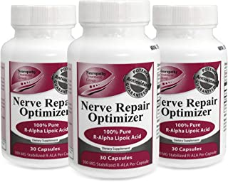 Life Renew: Nerve Repair Optimizer - Stabilized R-Alpha Lipoic Acid - to Be Used Alongside Nerve Renew for Faster Results - 3pk