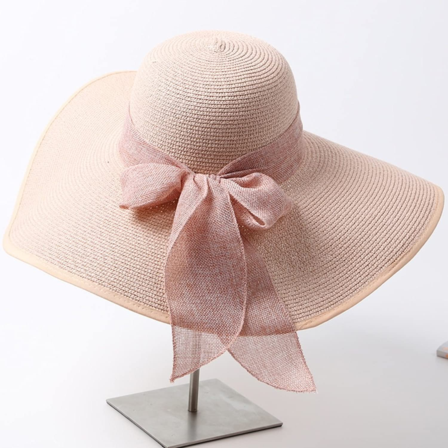 40094cadc76dab YD Summer Hat, Women Sun Hat Wide Brim Sunscreen Straw Cap Knitting Floppy  Foldable Packable Summer, 17 colors Optional (color 15 ) Hand Hat ...