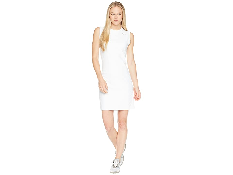 Nike Golf Flex Sleeveless Dress (White/Flat Silver) Women