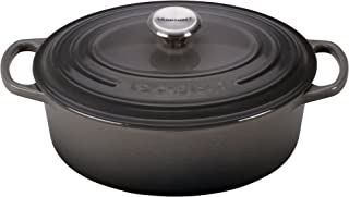 Le Creuset LS2502-237FSS Signature Enameled Cast Iron Oval Dutch French (Dutch) Oven, 2 3/4 quart, Oyster
