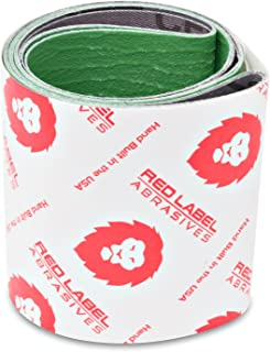 4 X 36 Inch Metal Grinding Ceramic Sanding Belts 120, 180, 220 Grits, Extra Long Life, 3 Pack Assortment