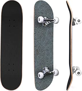 Classic Concave Skateboard Clouds Macro Ink Light Elegant Print Silk Brush Canvas Indigo Canadian Maple Trick Skateboards ...