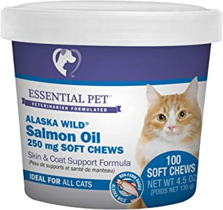 Essential Pet Products Alaska Wild Salmon Oil Soft Chews with Natural Omega-3 Fatty Acids for Cats