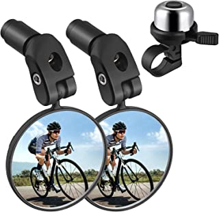 Zacro Bike Mirror, 2pcs Bike Mirror Handlebar Mount,...