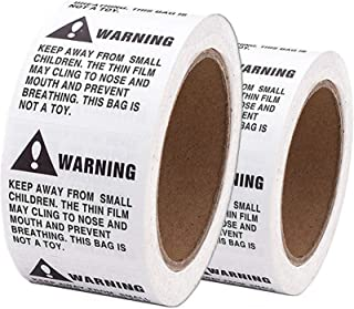 Shop4Mailers Warning Suffocation Labels 5.08cm x 5.08cm 500 卷