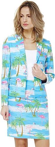 en linea Las mujeres Opposuit Flamingirl vestuario flamenco, tamaño 44, Blazer Blazer Blazer falda Caribbean Carnival  descuento de ventas