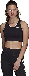 Adidas W D2m BT Workout Bra-Light Support, Women, Womens, FU0303, Black/White, S