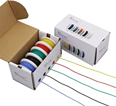 Striveday 30 AWG Flexible Silicone Wire Electric Wire 30 Gauge Coper Hook Up Wire 300V Cables Electronic Stranded Wire Cab...