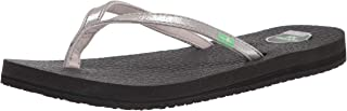 Sanuk Women's Yoga Spree 4 Metallic Sandal, Silver, 6 M US