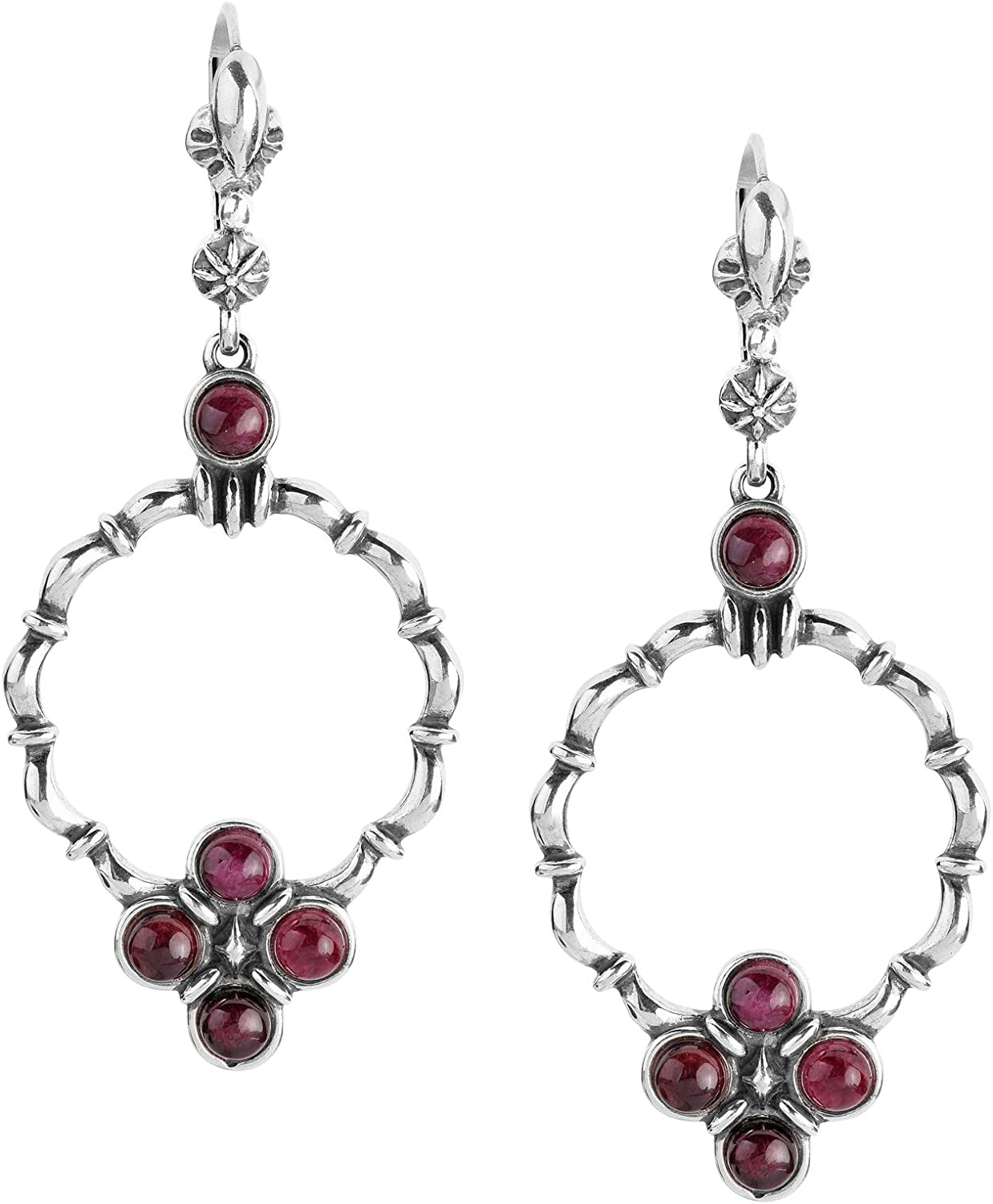 American Genuine Free Shipping West Sterling Silver outlet Gemstone Dangle Earrings