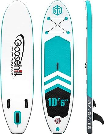 Leine streakboard Aufblasbares Stand Up Paddle Board Surf SUP Boards Paddel und Handpumpe f/ür alle Niveaus No Slip Deck 15 cm Dicke ISUP Boards mit kostenlosem SUP Zubeh/ör und Rucksack