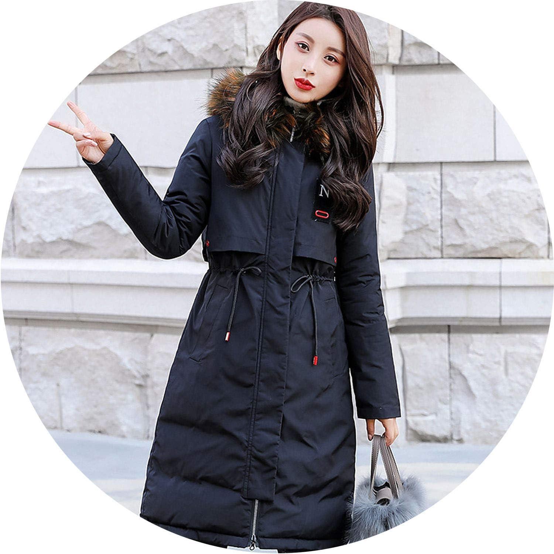 Be fearless 2019 Long Down Jacket Woman Heavy Hair Winter Jacket Coat Winter Jacket Women Coat Down Parka