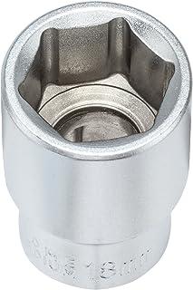 3 x 15 mm hexagon hylsnyckelinsats 1/2 tum tillverkad av krompläterat CV stål I hexagonuttag med 12,5 mm (1/2 tum) enhet f...