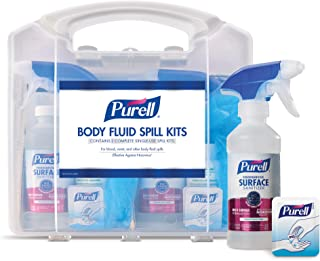 PURELL Body Fluid Spill Kit in Clam Shell Carrier, 2 Spill Kit Uses per Clamshell (Pack of 1)- 3841-08-CLMS
