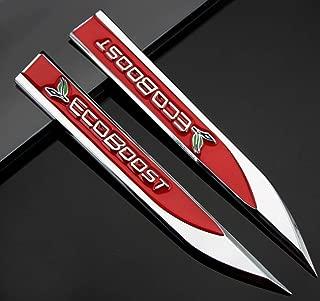 2pcs Auto car Dagger Fender Emblems Sticker Badge fit for Red ECOBOOST Sports