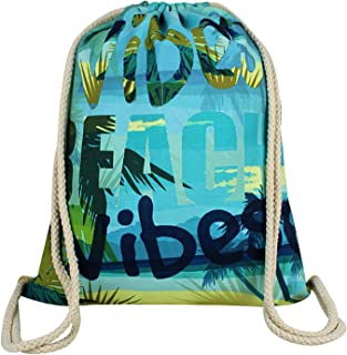 MR. YLLS Drawstring Backpack Gradient Waterproof Tote String Mesh Bag Lightweight Sackpack Cinch Sack for Women Kids Girls