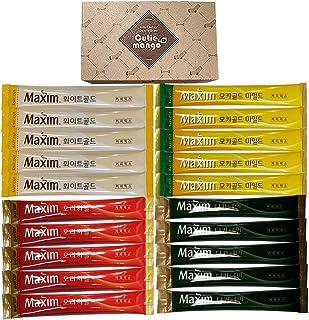 Korean Instant Coffee Mix Variety 20 Sticks with Gift Box / Maxim Instant Coffee 4 Types 5 Sticks Each