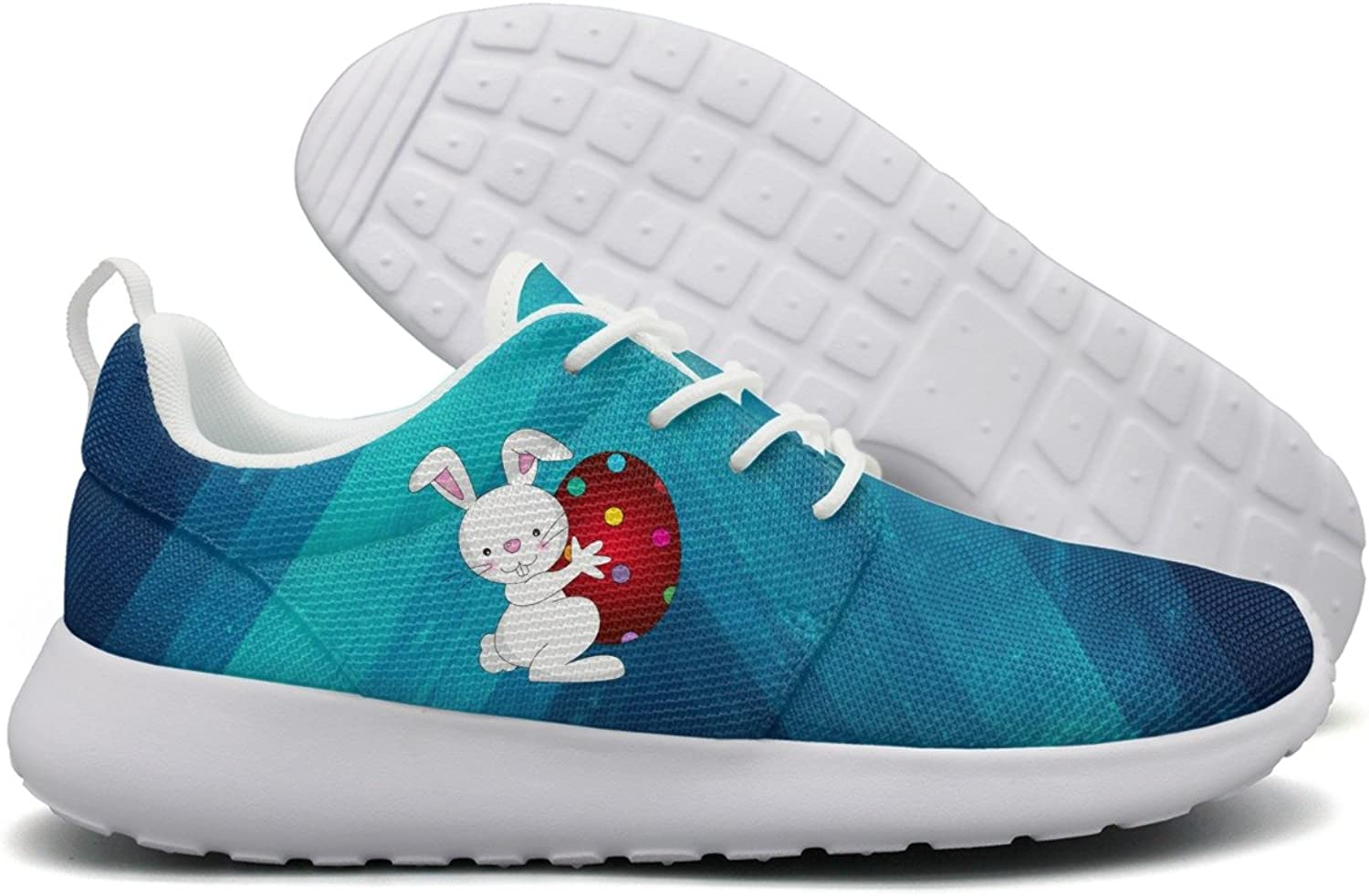 Happy Easter Day Bunny Eggs Womens Flex Mesh Running shoes