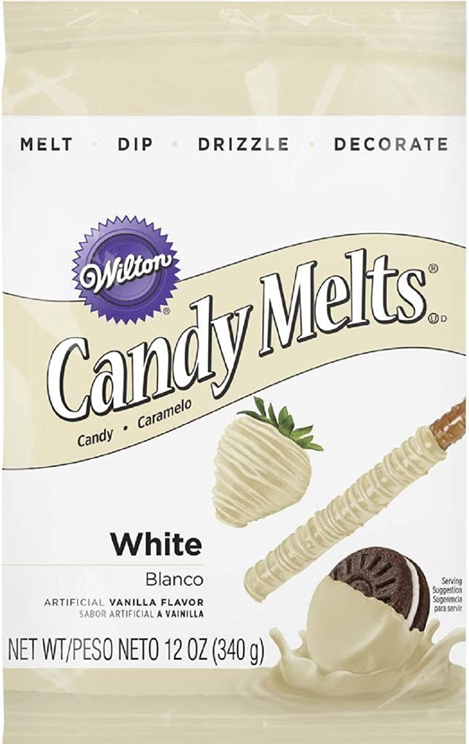 Wilton 19111366 Candy Melts, 12Ounce, White by Wilton