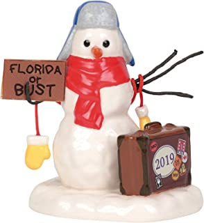 Department 56 Village Cross Product Accessories Lucky The Snowman 2019 Figurine, 3.1 Inch, Multicolor