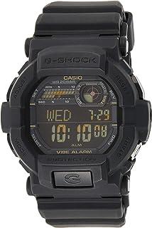ساعة كاسيو للرجال بمينا اسود وسوار من السيليكون - GD-350-1BDR