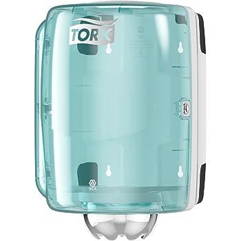 Tork 659000 Dispensador de alimentación central Performance / Soporte de papel mecha compatible con el sistema M2 / Blanco y Turquesa: Amazon.es: Industria, empresas y ciencia