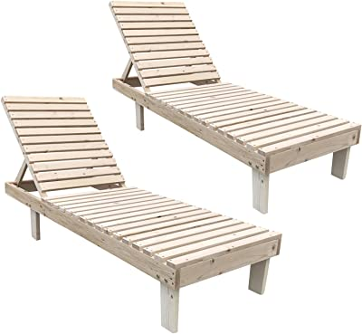 Amazon.com: Outsunny - Tumbona plegable de madera de acacia ...