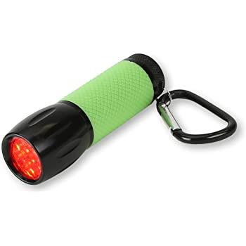 Carson RedSight Red Led Flashlight for Reading Astronomy Star Maps and Preserving Night Vision with Two Brightness Settings (SL-33), Green
