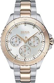 Hugo Boss Womens Quartz Watch, Analog Display and Stainless Steel Strap 1502446