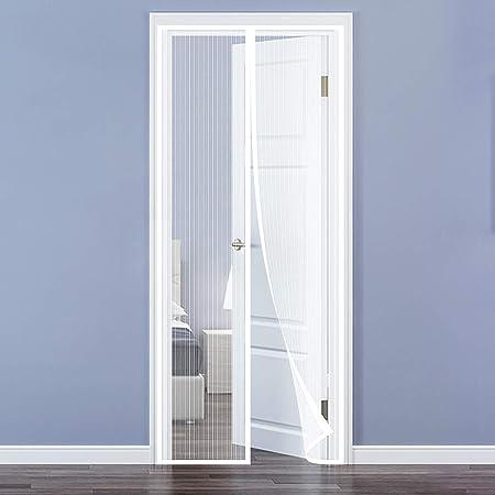 Gris 90x200cm Rideau Magn/étique pour Portes pour Couloirs//Portes Fermeture Automatique Adsorption magn/étique Imperm/éable AMCER Rideau de Porte Isolant