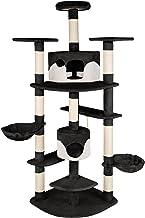 TecTake Rascador Árbol para gatos 201 cm de altura - disponible en diferentes colores - (negro-blanco | no. 402185)