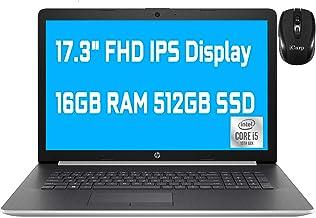 """2020 Premium HP 17 Laptop Computer 17.3"""" FHD IPS Display 10th Gen Intel Quad-Core i5-1035G1 (Beats i7-8550U) 16GB DDR4 512..."""
