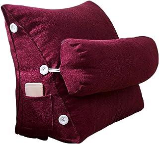 Almohada de cuña aional nórdico simple coreano terciopelo triángulo almohada flexible espalda ajustable cuña cojín sofá cama silla oficina descanso lectura almohada