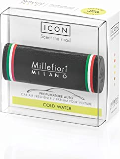 Millefiori Profumo per auto Millefiori ICON colore nero con bandiera italiana fragranza Cold Water