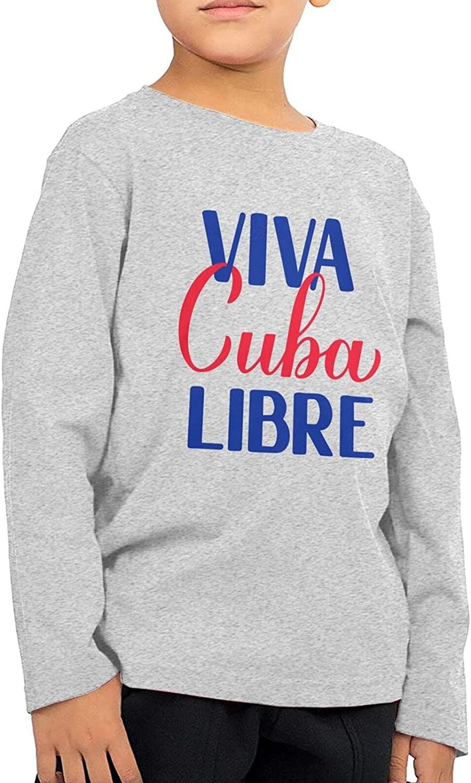 Viva Cuba Libre Kids Long Sleeve Shirts Cotton Sweatshirts Novelty T-Shirt Top Tees 2-6 Years