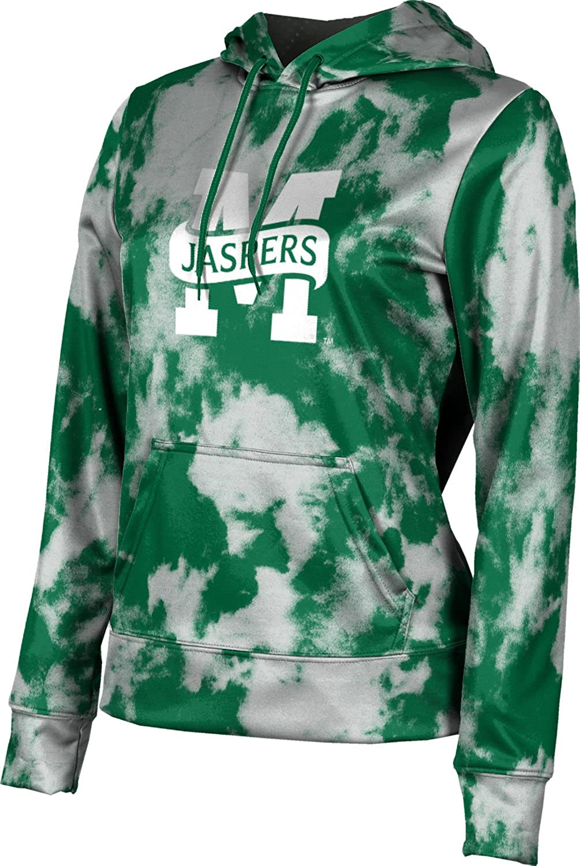 Manhattan College Girls' Pullover Hoodie, School Spirit Sweatshirt (Grunge)