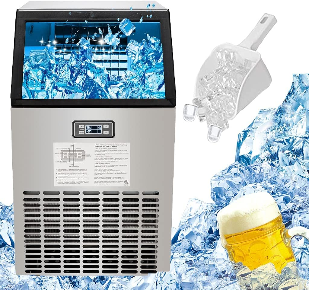 Commercial Ice Maker Challenge the lowest price of Japan Machine 99LBS 24H Cube Steel Stainless NEW before selling