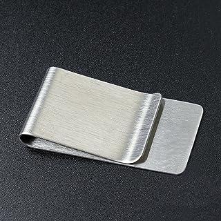 Myoffice ステンレス鋼製 ペンクリップ 紙幣クリップ - シルバー