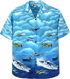 Vintage Fighter Planes Battleships Pearl Harbor Aloha Shirt