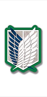 massimmond Vinyl Stickers Attack on Titan Wings of Freedom Anime Decal Phone Laptop Car Window Art (3 inch)