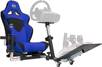 Openwheeler GEN2 Racing Wheel Stand Cockpit Blue on Black | Fits All Logitech G29 | G920..