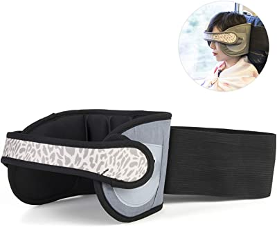 Sanxian Airplane Seat Head Support Travel Pillow Super Soft -A Comfortable Safe Sleep Solution in Airplane and Office Easily Attachable Machine Washable