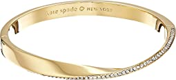 Kate Spade New York - Do The Twist Paved Hinged Bangle Bracelet